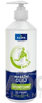 ALPA SportStar OLEJ MASÁŽNY ŠPORTOVÝ relax - po výkone 1x500 ml