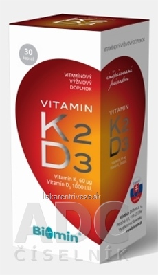 BIOMIN VITAMIN K2 + D3 PROTECT cps 1x30 ks