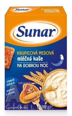 Sunar KRUPICOVÁ MEDOVÁ KAŠA mliečna NA DOBRÚ NOC (od ukonč. 6. mesiaca) 1x225 g