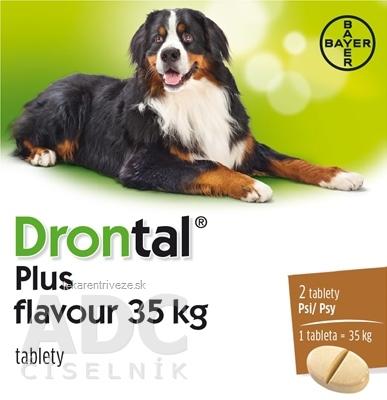 Drontal plus flavour 35 kg pre psy tbl 2 ks