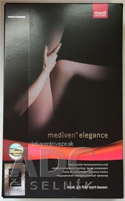 mediven elegance pančuchové nohavice veľkosť 5, (II.KT), normálne, čierne 1x1 ks