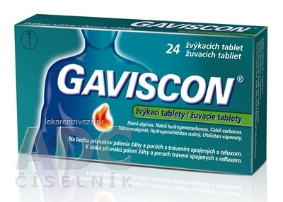 GAVISCON žuvacie tablety tbl mnd (blis.) 1x24 ks