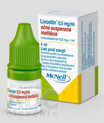 Livostin 0,5 mg/ ml int opu 1x4 ml