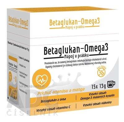 asp BETAGLUKAN - OMEGA 3 nápoj v prášku, vrecúška 15x13 g (195 g)