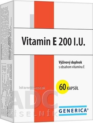 GENERICA Vitamin E 200 I.U. cps 1x60 ks