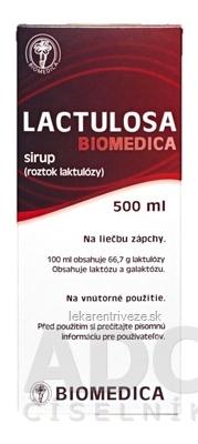 LACTULOSA BIOMEDICA sir 50% 1x500 ml