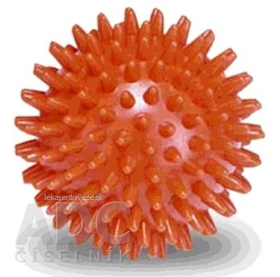 GYMY MASÁŽNA LOPTIČKA - ježko 6 cm oranžová, priemer 6 cm 1x1 ks