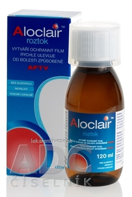 Aloclair roztok (ústna voda) 1x120 ml