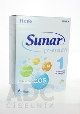 Sunar Premium 1, nový mliečna výživa dojčiat (od narodenia) inov.2015, 1x600 g