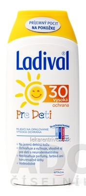 Ladival PRE DETI SPF 30 mlieko na ochranu proti slnku 1x200 ml