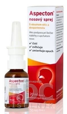 Aspecton nosový sprej s obsahom silíc a dexpantenolu 1x20 ml
