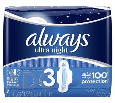ALWAYS ULTRA NIGHT 7 hygienické vložky 1x7 ks