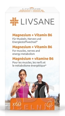 LIVSANE Magnézium + Vitamín B6 tbl 1x60 ks