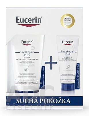 Eucerin Kazeta UreaRepair PLUS krém na ruky 75 ml + krém na nohy 100 ml (Vianoce 2021) 1x1 set