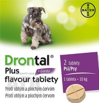 Drontal plus flavour tablety pre psy tbl 2 ks