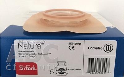 Podložka s harmonikovým krúžkom Natura Stomahesive stomická, tvarovateľná, priemer 57 mm, otvor 22-33 mm, 1x5 ks
