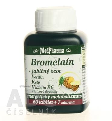 MedPharma BROMELAIN 300 mg + JABL.OCOT + LECITIN tbl 60+7 zadarmo (67 ks)