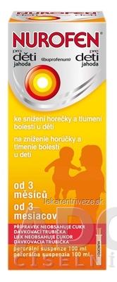 NUROFEN pre deti Jahoda sus por (PET fla.+ dávk.trub.) 1x100 ml
