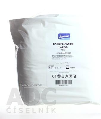 Sanete Pants - Nohavičky plienkové inkontinenčné Large, savosť 1260 ml, obvod pása 90-125 cm, 1x10 ks