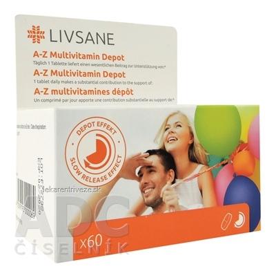LIVSANE A-Z Multivitamín komplex tbl 1x60 ks