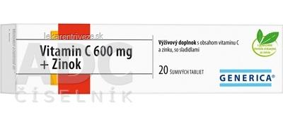 GENERICA Vitamin C 600 mg + Zinok tbl eff 1x20 ks