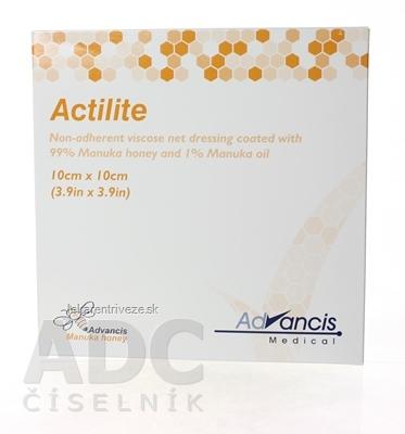 ACTILITE krytie na rany antimikrobiálne 10x10 cm, neadherentná viskóza, napustené manukou  1x10 ks