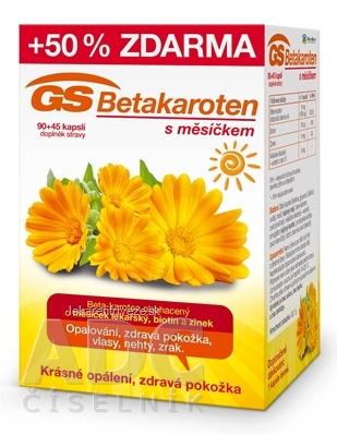 GS Betakarotén s nechtíkom cps 90+45 50% zadarmo (135 ks)