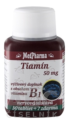 MedPharma TIAMÍN 50 mg (vitamín B1) tbl 30+7 zadarmo (37 ks)