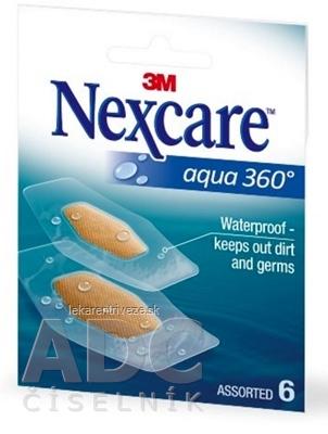 3M Nexcare AQUA 360° náplasti 2 veľkosti, 1x6 ks