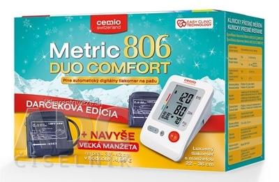 Cemio Metric 806 DUO COMFORT Tlakomer na rameno 1 ks + darček 2018 (navyše veľká manžeta 30-42 cm), 1x1 set