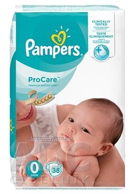PAMPERS ProCare PREMIUM protection 0 detské plienky, od narodenia (1 - 2,5 kg) 1x38 ks