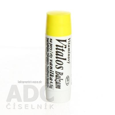 VITALOS Balzam na pery vanilka SPF 5 vitamínový 1x1 ks