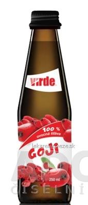 VIRDE GOJI 100 % ovocná šťava 1x250 ml