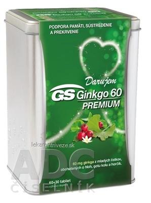 GS Ginkgo 60 PREMIUM darček 2019 tbl (strieborná dóza) 60+30 (90 ks)