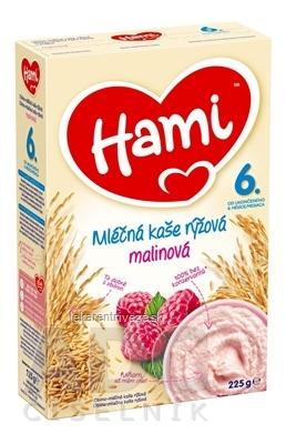 Hami mliečna kaša ryžová malinová (od ukonč. 6. mesiaca) 1x225 g