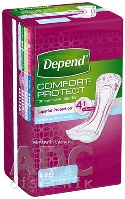 DEPEND NORMAL PLUS inkontinenčné vložky pre ženy, 10x28 cm, savosť 365 ml, 1x12 ks
