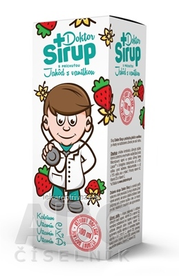 Doktor Sirup kalciový sirup s príchuťou Jahôd s vanilkou 1x100 ml