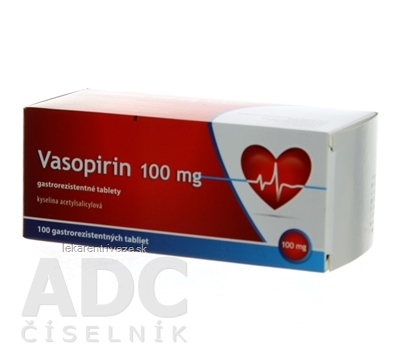 Vasopirin 100 mg tbl ent (blis.PVC/Al) 1x100 ks