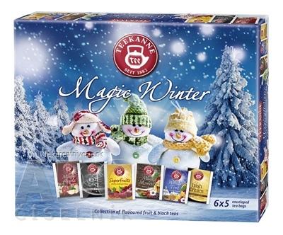 TEEKANNE MAGIC WINTER KOLEKCIA čaje (Magic Ap.+E.Grey+Superfr.+Magic M.+Wint.Time+Irish Cr.) 6x5 nálevových vrecúšok,1x1 set