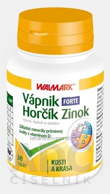 WALMARK VÁPNIK-HORČÍK-ZINOK FORTE tbl 1x30 ks