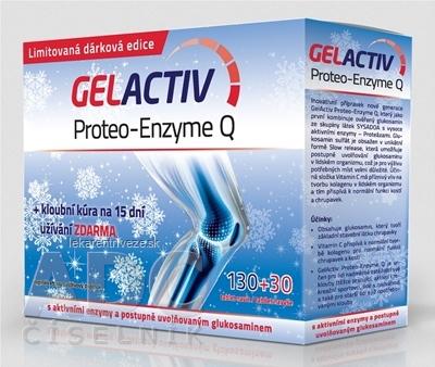 GELACTIV Proteo-Enzyme Q Vianoce 2015 tbl 130+30 navyše (160 ks)