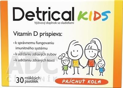 Detrical Kids Vitamín D s príchuťou kola pastilky 1x30 ks