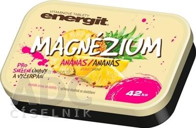 Energit MAGNÉZIUM vitamínové tablety s príchuťou ananás 1x42 ks