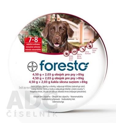 Foresto obojok pre psy nad 8 kg 1x1 ks