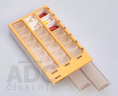 Dávkovač liekov typ 02 týždenný broskyňový 1x1 ks