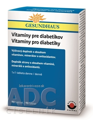 Vitamíny pre diabetikov tbl 1x90 ks