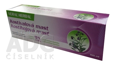 HERBACOS VERAL HERBAL kostihojová masť 1x100 ml