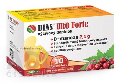 DIAS URO Forte prášok vo vrecúškach 1x10 ks