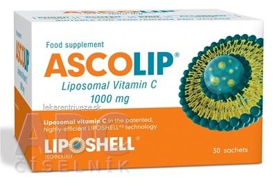 ASCOLIP Liposomal Vitamin C 1000 mg gél vo vrecúškach 1x30 ks