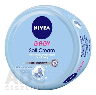 NIVEA BABY Hydratačný Soft krém na tvár a telo 1x200 ml